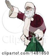 Christmas Santa Claus Waving