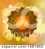 Clipart Of A Happy Diwali Greeting With A Mandala Royalty Free Vector Illustration