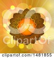 Happy Diwali Greeting With A Mandala