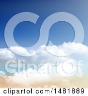 Clipart Of A Sky Background Royalty Free Vector Illustration