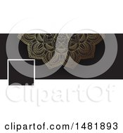 Clipart Of A Mandala Social Media Banner Royalty Free Vector Illustration by KJ Pargeter