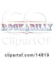 Western Rockabilly Music Sign Clipart Illustration