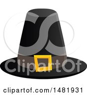 Black Thanksgiving Pilgrim Hat With A Buckle