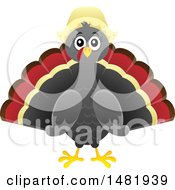Clipart Of A Female Thanksgiving Pilgrim Turkey Bird Royalty Free Vector Illustration