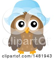 Clipart Of A Thanksgiving Owl Wearing A Pilgrim Bonnet Royalty Free Vector Illustration