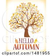 Fall Tree With Hello Autumn Text
