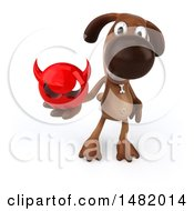 Clipart Of A 3d Brown Chocolate Lab Dog On A White Background Royalty Free Illustration