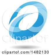 Clipart Of An Abstract Blue Oval Letter A Design With A Shadow Royalty Free Vector Illustration