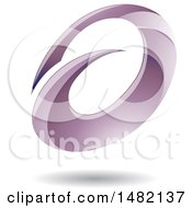 Clipart Of An Abstract Purple Oval Letter A Design With A Shadow Royalty Free Vector Illustration