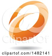 Abstract Orange Oval Letter A Design With A Shadow