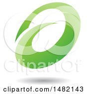 Abstract Green Oval Letter A Design With A Shadow