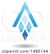 Clipart Of A Blue Abstract Letter A Diamond Window And House Roof Royalty Free Vector Illustration by cidepix