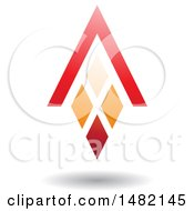 Clipart Of A Red And Orange Abstract Letter A Diamond Window And House Roof Royalty Free Vector Illustration by cidepix