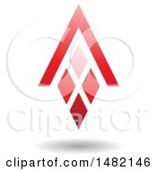 Clipart Of A Pink Abstract Letter A Diamond Window And House Roof Royalty Free Vector Illustration by cidepix