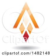 Clipart Of An Orange Abstract Letter A Diamond Window And House Roof Royalty Free Vector Illustration by cidepix
