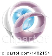Clipart Of An Abstract Letter A Around A Pearl Royalty Free Vector Illustration