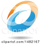 Clipart Of An Abstract Oval Letter A Design With A Shadow Royalty Free Vector Illustration