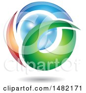 Clipart Of An Abstract Letter A Around A Pearl Royalty Free Vector Illustration by cidepix