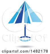 Floating Blue Umbrella And Shadow
