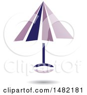 Floating Purple Umbrella And Shadow