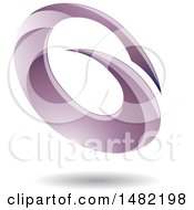 Abstract Purple Oval Letter G Design With A Shadow