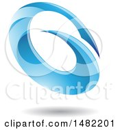 Abstract Blue Oval Letter G Design With A Shadow