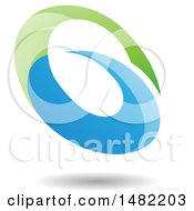 Clipart Of An Abstract Oval Letter G Design With A Shadow Royalty Free Vector Illustration