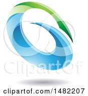 Clipart Of An Abstract Oval Letter G Design With A Shadow Royalty Free Vector Illustration by cidepix