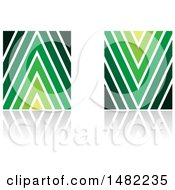 Abstract Arrow Shaped Letter A And V Designs