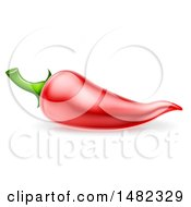 Clipart Of A Red Chili Pepper Royalty Free Vector Illustration by AtStockIllustration