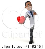 Poster, Art Print Of 3d Young Black Male Doctor On A White Background