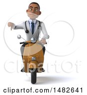 Clipart Of A 3d Young Black Male Doctor On A White Background Royalty Free Illustration