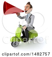 Clipart Of A 3d White Male Doctor On A White Background Royalty Free Illustration