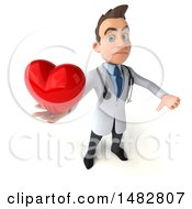 Poster, Art Print Of 3d White Male Doctor On A White Background