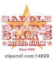 Vintage Rodeo Sign With A Star