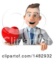 Poster, Art Print Of 3d Young White Male Doctor On A White Background