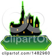 Clipart Of A Halloween Castle Label Or Logo Royalty Free Vector Illustration by Vector Tradition SM