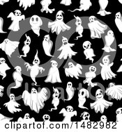 Halloween Seamless Ghost Background