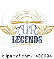 Tan Airplane Propeller Wings And Text Design