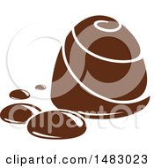 Clipart Of A Milk Chocolate Treat Royalty Free Vector Illustration by Vector Tradition SM