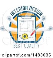 Clipart Of A Blueprints Interior Design Royalty Free Vector Illustration