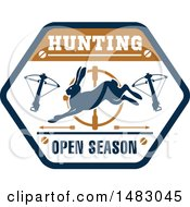 Crossbow And Rabbit Open Season Hunting Shield