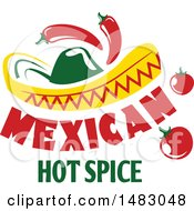 Sombrero With Peppers Tomatoes And Text
