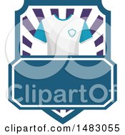 Clipart Of A T Shirt And Shield Design Royalty Free Vector Illustration by Vector Tradition SM