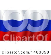 Poster, Art Print Of Waving Russian Flag