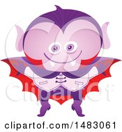 Clipart Of A Boy In A Vampire Halloween Costume Royalty Free Vector Illustration by Zooco