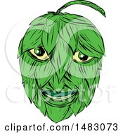 Clipart Of A Sketched Hops Man Royalty Free Vector Illustration by patrimonio