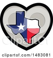 Poster, Art Print Of Texas Flag State Map In A Heart