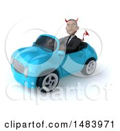 Poster, Art Print Of 3d Young Black Devil Business Man On A White Background