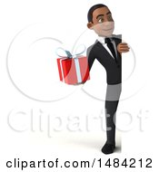 Poster, Art Print Of 3d Young Black Business Man On A White Background